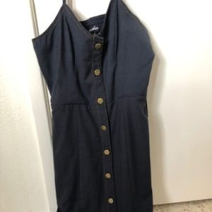 Sequin Hearts Dresses - Button Down Jean Stretch Dress